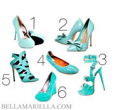 Blue Pastel Shoes for bridesmaids