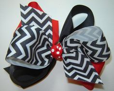 Girls Back to School Large Triple Loop Twisted by bowtowne on Etsy, $8.95