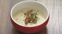 Official MasterChef Australia recipe - Parsnip Soup with Stilton and Bacon Crumb by the Red Team