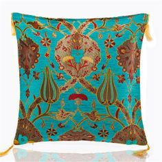 Gulfem Chenille Cushion Cover, Turquoise