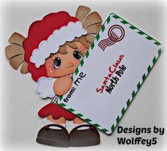 ELITE4U XMAS GIRL BROWN paper piecing premade scrapbook page album WOLFFEY5