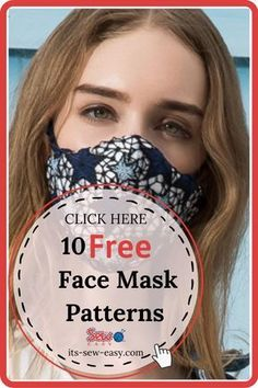 Easy Face Masks, Face Masks For Kids, Homemade Face Masks, Diy Face Mask, The Face, Diy Mask, Sewing Patterns Free, Free Pattern, Sewing Techniques