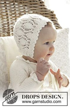 My fairy / DROPS baby - free knitting patterns by DROPS design Free knitting instructions Knitting , lace processing is one of the most beautiful hobbies that women cannot give up. Baby Knitting Patterns, Knitting For Kids, Crochet For Kids, Baby Patterns, Free Knitting, Crochet Baby Mittens, Crochet Baby Bonnet, Crochet Hats, Booties Crochet