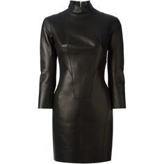 DSQUARED2 fitted dress (68.770 RUB) ❤ liked on Polyvore featuring dresses, short dress, black, 3/4 sleeve short dress, short mini dress, short cocktail dresses, dsquared2 and short tight dresses