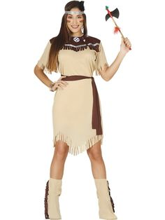 Da Donna Marrone Native American Indian Squaw Pocahontas costume