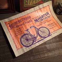 Monarch Bicycle silkscreen prints I did for last year's Pinch Flat Show.  #typehunter #monarchbicycle #silkscreen