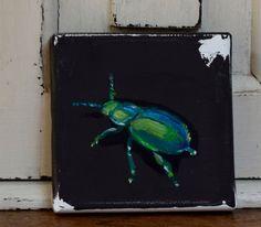 Little green bettle by JJHowardFineArt on Etsy