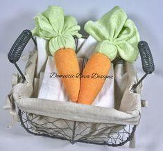 Washcloth Carrot, Baby Shower Decorations, Easter Basket Filler, Peter Rabbit Baby Shower, Peter Rabbit Diaper Cake, Garden Baby Shower