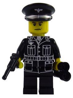 Custom LEGO German Military Soldier Minifigure Model German Panzer General Lego Soldiers, Lego Ww2, Lego Police, Lego Army, Military Figures, Military Soldier, Cool Lego, Awesome Lego, Army Party