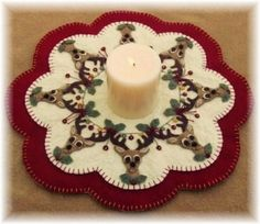 Cute Christmas Candle Mat