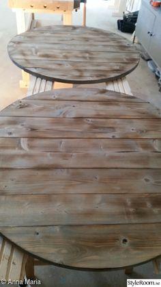 Gammalt bord i ny/gammal tappning - Hemma hos Happy1 Diy Table, Dining Table, Living Room, Kitchen, Inspiration, Furniture, Home Decor, Ska, Biblical Inspiration