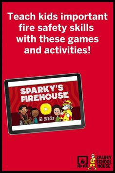 Sparky the Fire Dog's ® brand new app is loaded with games and activities perfect for teaching your early learner how to stay safe in case of a fire, plus early math, reading and literacy skills. Fire Safety For Kids, Fire Safety Tips, Sparky The Fire Dog, Fire Prevention Week, Dog Branding, Early Math, Literacy Skills, Best Apps, Stay Safe