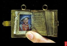 A 'girdle book' is a small portable book. attached to a girdle or belt. They were most often Book of Hours or Prayer Books carried for devotional purposes.  #ManuscriptMonday