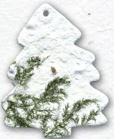 Large Pine Tree Ornament W/ Embedded Austrian Pine Seed