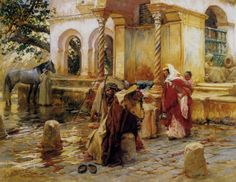 Frederick Arthur Bridgman (American, 1847-1928) 'Fountain of Borkadem'