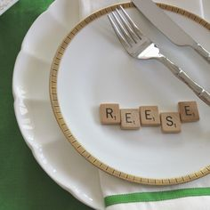 Collect Scrabble letters. They come in handy for table settings, holidays and crafts.
