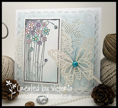 Afternoon all.:o) So onto my card.and today I have made a card for this months LOTV cha. April Challenge, Tattered Lace Cards, Vixx, Daisy, Birthdays, Challenges, Butterfly, Scrapbook, Card Designs