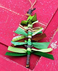 scrap ribbon tree ornament - Google Search