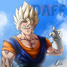Vegetto art By DaffDuff. Dragon Ball Gt, Gogeta And Vegito, Super Movie, Z Wallpaper, Ssj3, Good Anime Series, Dbz Characters, Beautiful Dragon, Dragon Images
