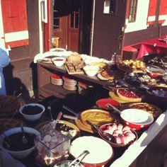 Dessert buffet at L'Alpette
