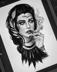 Neo Tattoo, Dark Tattoo, Arm Band Tattoo, Tattoo Design Drawings, Tattoo Sketches, Tattoo Designs, Girl Tattoos, Tattoos For Guys, Neo Traditional Art