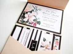 ONE SAMPLE Magnolia Blush Pocketfold Wedding by VanillaRetro