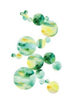 Geometrical watercolours