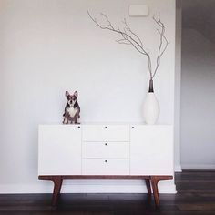 Awesome photo from @joshuaraymund – starring Benny and our Dumont Buffet! #regram #mywestelm