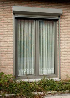 Ramen + voorzetluik PVC (Kwartsgrijs) / Schüco PVC CT70 Rondo Ramen, Windows, Curtains, Home Decor, Doors, Blinds, Decoration Home, Room Decor, Draping