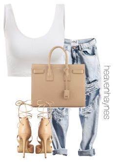 """""""Untitled #301"""" by heavenandahalf ❤ liked on Polyvore featuring Yves Saint Laurent and Steve Madden"""