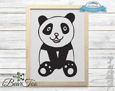 Panda SVG Watercolor Bear Clipart Drawing Vector Cut Files for Cricut and Silhouette or Printing How To Make Stickers, Clear Stickers, Making Stickers, Bear Clipart, Bunny Drawing, Vector File, Handmade Art, As You Like, Planner Stickers