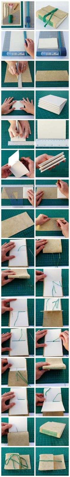 Learn how to make a long-stitch bound journal. #FreeTutorial #Bookbinding #Papercraft by Maiden11976
