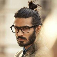 man bun hairstyle top knot