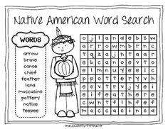 native american kids {a craftivity} - A Cupcake for the Teacher - TeachersPayTeachers.com