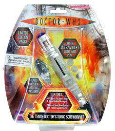 Destornillador sónico Doctor Who. Décimo Doctor, con luz y sonido