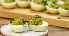 Deviled eggs always bring a crowd-pleasing touch to start a meal or small party.