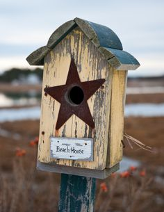 Beach Bird Houses | Beach House Bird House