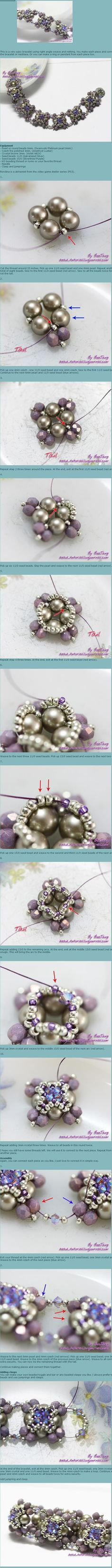 Beaded Beads TUTORIAL bracelet