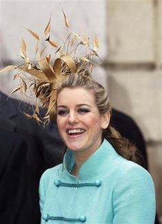 Laura Parker Bowles sporting a lovely fascinator.