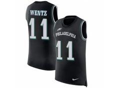 Men Nike Philadelphia Eagles  11 Carson Wentz Limited Black Rush Player  Name  amp  Number 8d6c51ea3
