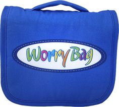 #worrybag Blue Worry Bag Front