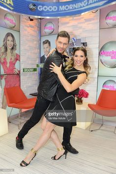 Andy Grammar and Allison Holker who were eliminated from 'Dancing With the Stars,' stop by GOOD MORNING AMERICA, 11/3/15, airing on the ABC Television Network.
