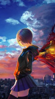 Kirishima Touka Tokyo Ghoul City Sky Wings Anime Manga