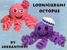 New Loomigurumi / Amigurumi Octopus - Rainbow Loom Hook Only - YouTube
