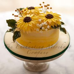 Ombre Sunflower Cake - Cake by The Enchanting Merchant Company