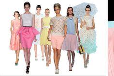 Looks around spring fashion week...