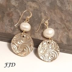 Bronze and Gold Earrings by FelicityDesignsLLC on Etsy