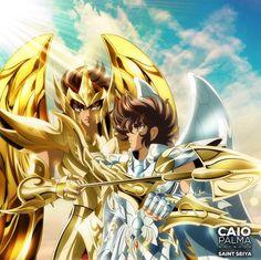 Aiolos e Seiya. Fanart by Caio Palma