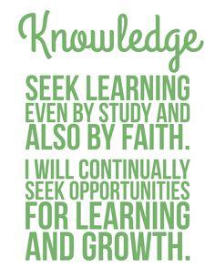 The Personal Progress Helper: Knowledge
