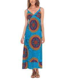 Turquoise Circle Maxi Dress - Women